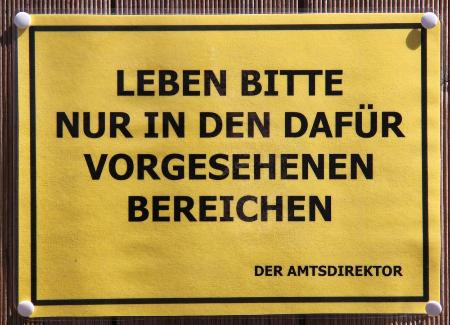 Schild Leben (Foto A. Illhardt)